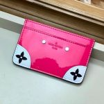 Venice Card Holder In Patent Leather M67639 Hot Pink  Collection