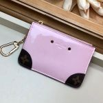 Venice Key Pouch In Patent Leather M63853 Light Pink Collection