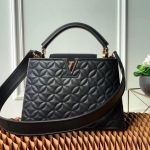 Capucines Bb Monogram Flower Top Handle Bag M55360 Black 2019 Collection