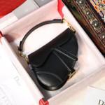 Mini Saddle Calfskin Bag 20cm