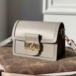 Dauphine Mini Smooth Leather Shoulder Bag M55837 Grey 2020 Collection