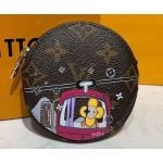 Monogram Canvas Round Coin Purse Print 03