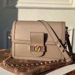 Dauphine Mm Smooth Leather Shoulder Bag M55735 Grey 2020 Collection