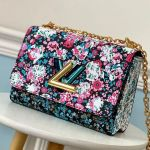 Floral Print Twist Mm Chain Shoulder Bag M55037 Red 2019 Collection