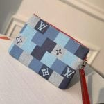 City Pouch In Damier Monogram Denim Canvas M68761 Blue/red 2020 Collection