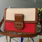 Lv Lock Dauphine Mm Shoulder Bag M53830 Red 2019 Collection