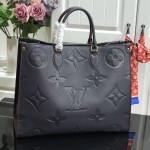 Onthego Monogram Empreinte Tote Bag M44576 Navy Blue 2019 Collection