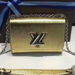 Twist Mm Chain Bag In Metallic Epi Leather M50280 Gold 2019 Collection