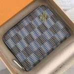Lv Damier Pop Zippy Coin Purse Wallet M68663 Blue 2019 Collection