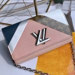Twist Graphic Tape Chain Wallet Woc M67798 Pink 2019 Collection