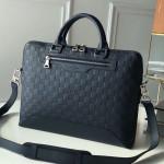 Avenue Soft Damier Leather Briefcase Top Handle Bag N41020 Dark Blue 2019 Collection