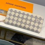 Damier Azur Canvas Studded Clemence Long Zipped Wallet N60252 2019 Collection