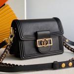 Mini Dauphine Epi Leather Shoulder Bag M90499 Black 2019 Collection