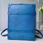 Men's Epi Leather Soft Trunk Backpack Pm Blue M44752 2019 Collection