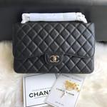 CC Flap Bag X Caviar Jumbo