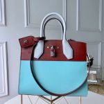 City Steamer Mm Bag In Smooth Calfskin M42188 Blue/burgundy Collection