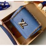 Epi Leather Twist Mm Shoulder Bag M50282 Blue/gold 2020 Collection