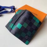 Damier Graphite Pixel Canvas Pocket Organiser Wallet N60160 Green 2019