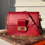 Dauphine Mm Smooth Leather Shoulder Bag M55735 Burgundy 2020 Collection