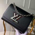 Twist Pm Shoulder Bag In Epi Leather M53886 Black/yellow 2019 Collection