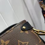 Monogram Canvas Soufflot Mm Open Top Handle Bag M44816 Black 2019 Collection