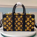 Men's Runway Box Top Handle Bag In Monogram Embroidery M44483 2019 Collection