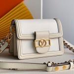 Mini Dauphine Epi Leather Shoulder Bag M90499 White 2019 Collection