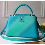 Colorful Candy Edition Taurillon Leather Capucines Pm Top Handle Bag M55375 Green/blue 2020 Collection