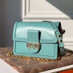 Dauphine Mm Smooth Leather Shoulder Bag M55735 Blue 2020 Collection