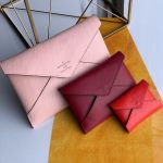 Pochette Kirigami Triple Envelope Pouch In Epi Leather M62457 Pink 2019 Collection