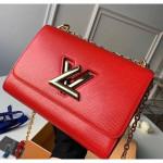 Epi Leather Twist Mm Shoulder Bag M50282 Red/gold 2020 Collection