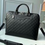 Avenue Soft Damier Leather Briefcase Top Handle Bag N41019 Black 2019 Collection