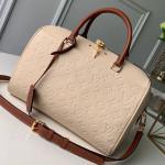Monogram Empreinte Leather Speedy Bandouliere 25 M44736 Cream White 2019 Collection