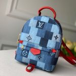 Palm Springs Mini Backpack In Damier Monogram Denim Canvas M45043 Blue/red 2020 Collection