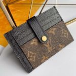 Monogram Canvas And Calfskin Porte Cartes Double Zipped Card Holder M66532 Black 2019 Collection