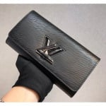Epi Leather Twist Wallet M61178 Black