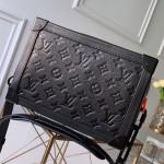 Monogram Empreinte Leather Soft Trunk Case Shoulder Bag M44478 Black 2019 Collection