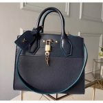 City Steamer Pm Bag In Smooth & Grainy Calfskin M55347 Deep Blue Collection