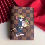 Damier Ebene Canvas Tom And Jerry Print Passport Cover N64411 2019 Collection