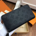 Perforated Monogram Calfskin Long Zippy Wallet M58428 Black 2019 Collection