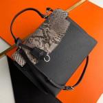 Lockme Ever Mm Pythonskin Calfskin Top Handle Bag N97009 Black 2019 Collection