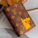 Monogram Canvas Pikachu Print Passport Cover M64411 Coffee 2019 Collection