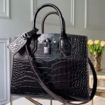 City Steamer Pm Top Handle Bag In Glossy Crocodile Leather N92515 Black 2019 Collection