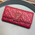 Capucines Bloom Lambskin Long Flap Wallet M68590 Dark Red 2019 Collection