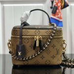 Monogram Canvas Flap Cosmetic Top Handle Bag M42264 Yellow 2019 Collection