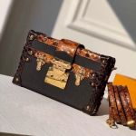 Petite Malle Python-like Leather Box Shoulder Bag N94723 2018 Collection