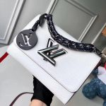Short Chain Handle Epi Leather Twist Mm Bag White F/w 2018 Collection