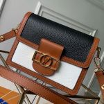 Lv Lock Mini Dauphine Shoulder Bag M53806 Black/white 2019 Collection