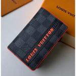 Men's Pocket Organizer Wallet M61696 Damier Graphite Canvas/orange