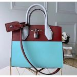 City Steamer Pm Bag In Smooth Calfskin M42188 Blue/burgundy Collection